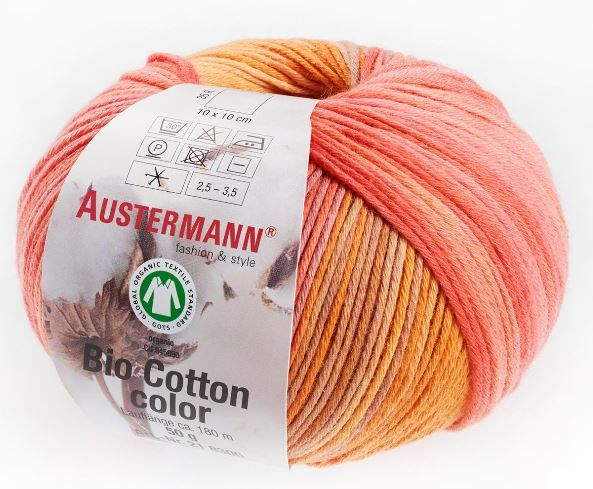 BIO COTTON COLOR 106 papaya Austermann