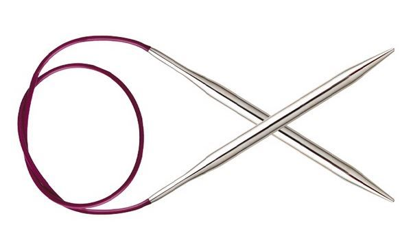 řada Nova Metal pevné (fixni) kruhové jehlice 5,00 / 80 cm KnitPro