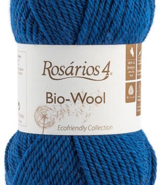 100% organic wool Bio-Wool 03 modrá ROSARIOS4