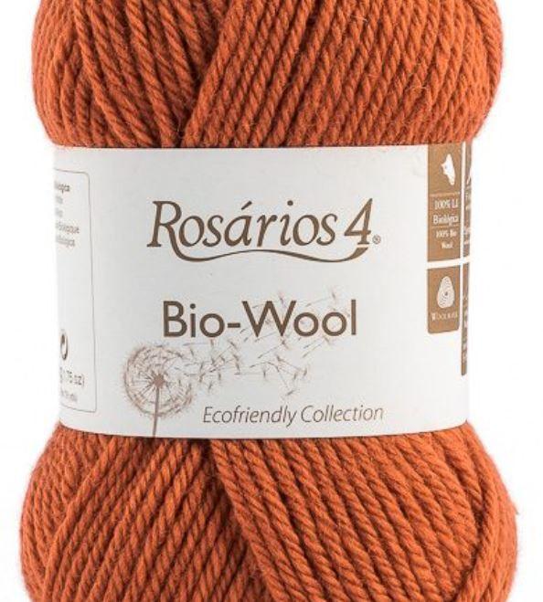 100% organic wool Bio-Wool 09 tmavá oranžová ROSARIOS4