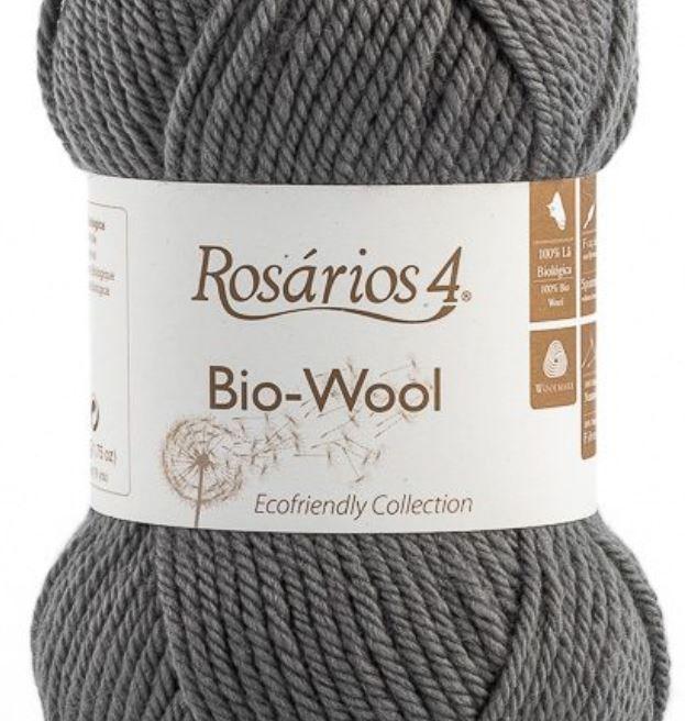 100% organic wool Bio-Wool 15 šedá ROSARIOS4