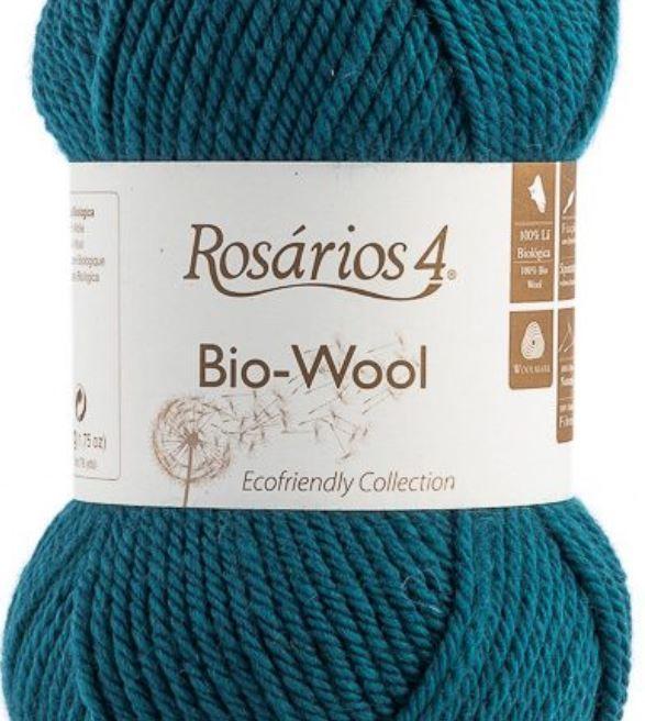 100% organic wool Bio-Wool 24 petrol ROSARIOS4