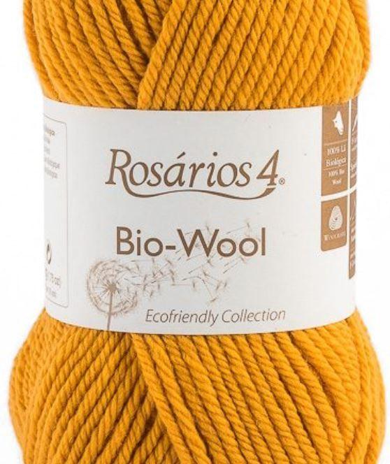 100% organic wool Bio-Wool 27 hořčicová ROSARIOS4