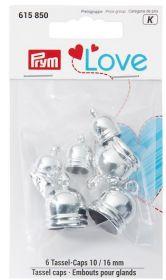Kaplíky na střapce PRYM LOVE stříbrné