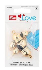 Kaplíky na střapce PRYM LOVE zlaté