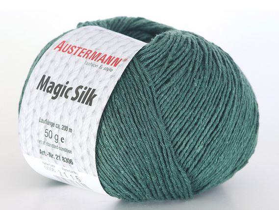 MAGIC SILK 06 lorbeer 100% hedvábí Austermann