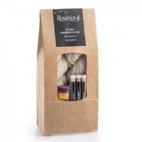 KIT Nebarvená příze Bio-Wool / Yarn dyeing kit