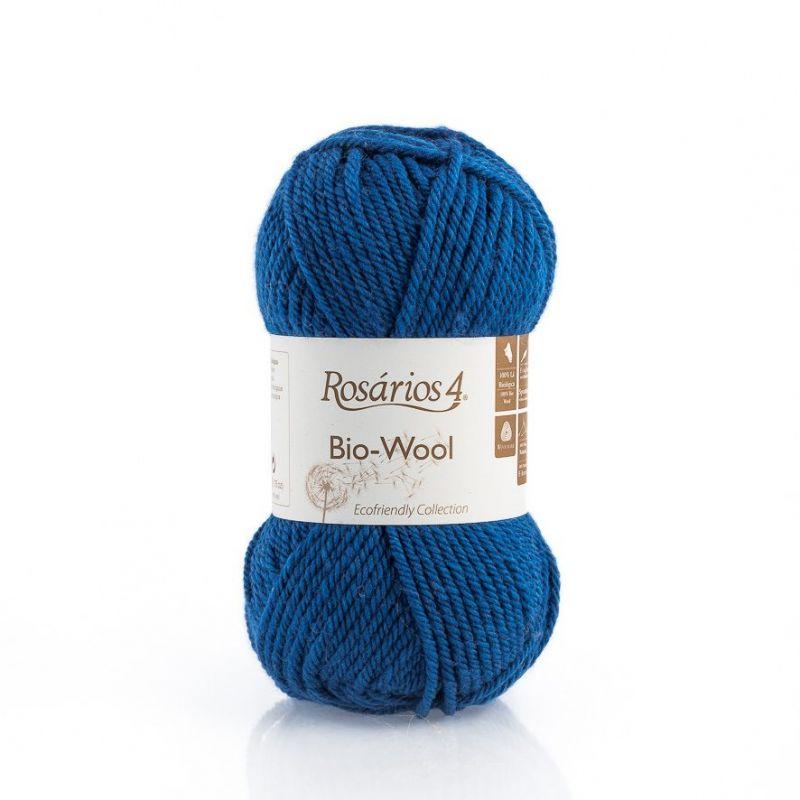 100% organic wool Bio-Wool 03 Royal Blue ROSARIOS4