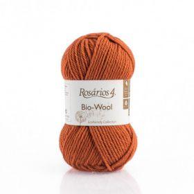 100% organic wool Bio-Wool 09 tmavá oranžová ROSÁRIOS 4
