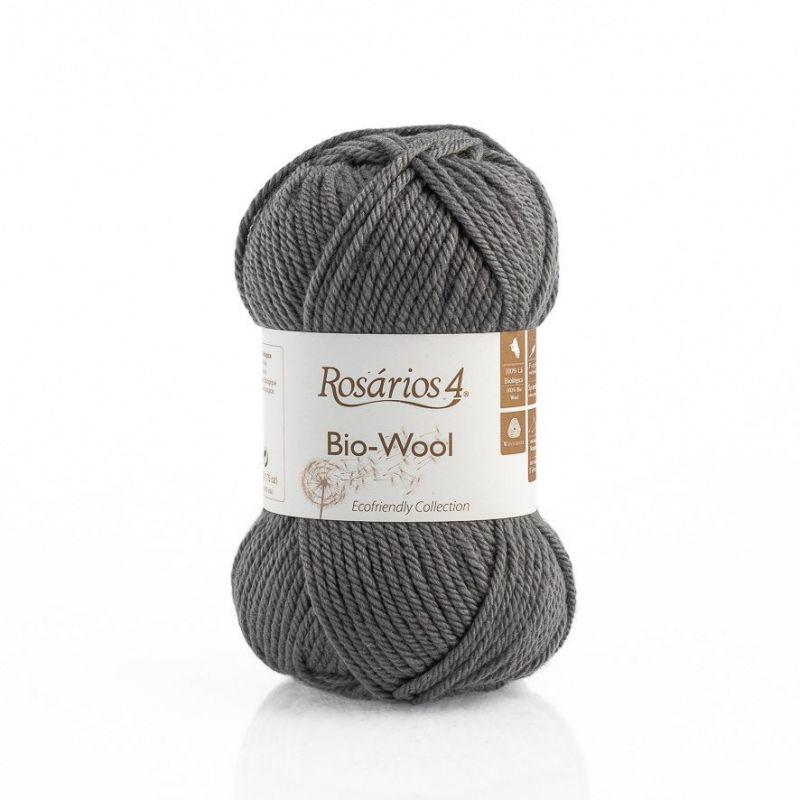 100% organic wool Bio-Wool 15 šedá ROSÁRIOS 4