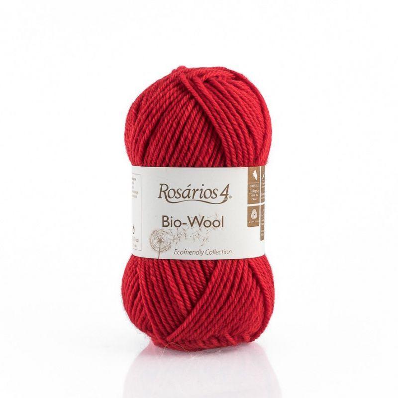 100% organic wool Bio-Wool 17 červená ROSARIOS4