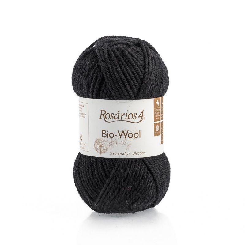 100% organic wool Bio-Wool 19 černá ROSARIOS4