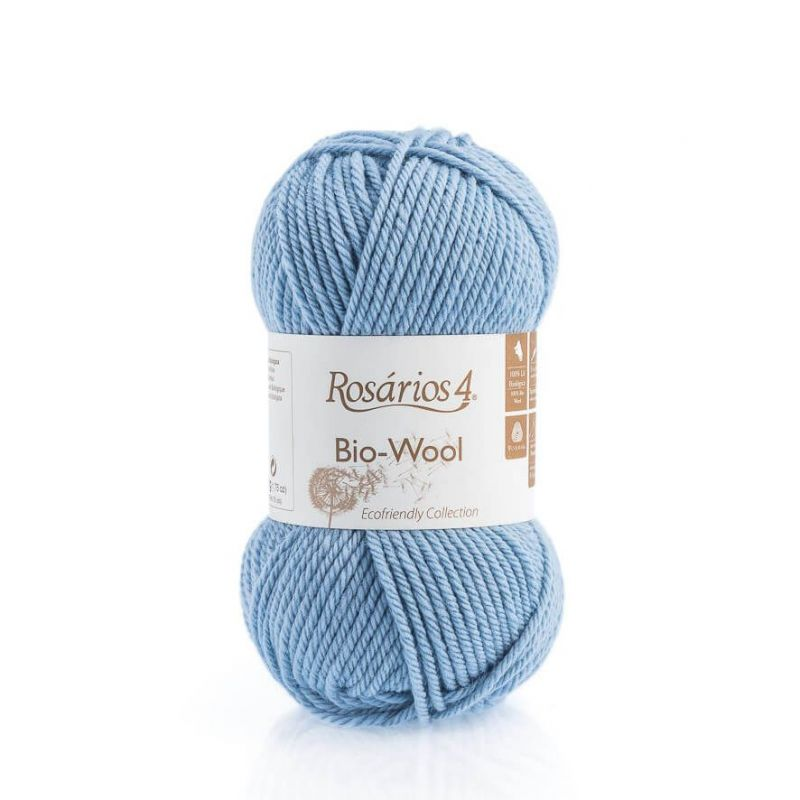 100% organic wool Bio-Wool 23 světle modrá ROSARIOS4
