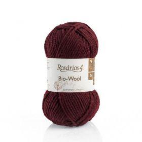 100% organic wool Bio-Wool 25 burgundská ROSARIOS4