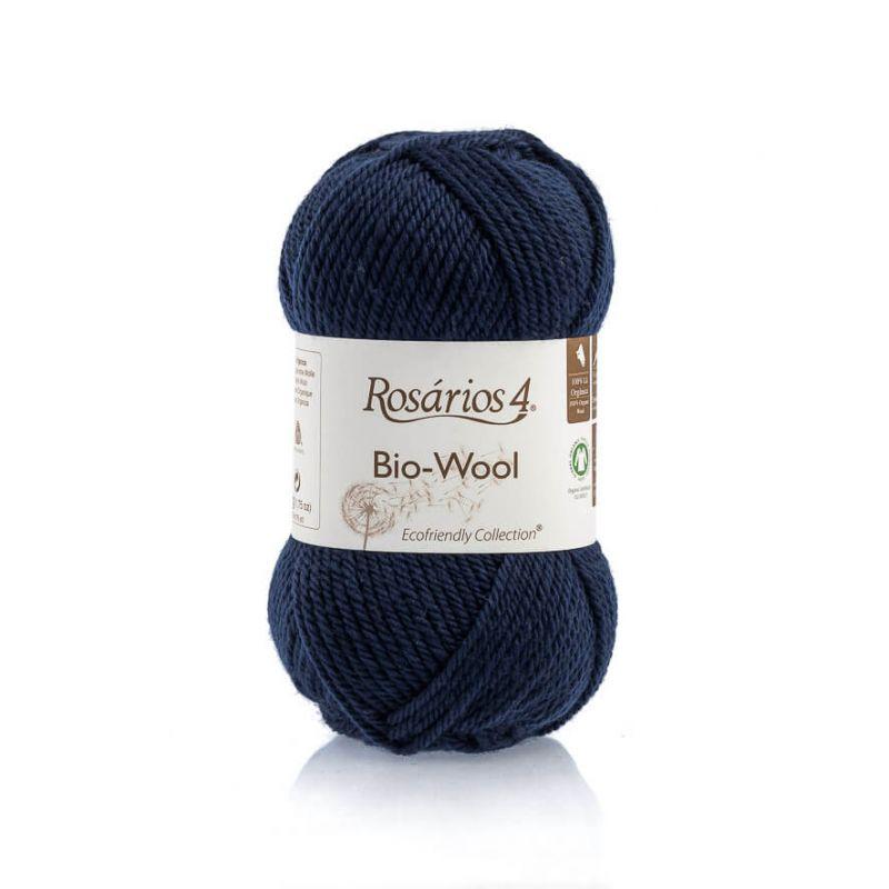 100% organic wool Bio-Wool 31 modrá ROSARIOS4
