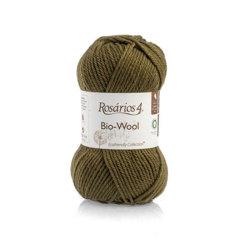 100% organic wool Bio-Wool 32 khaki ROSARIOS4