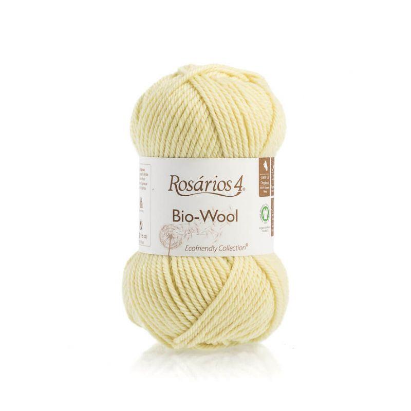 100% organic wool Bio-Wool 33 žlutá ROSARIOS4