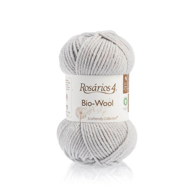 100% organic wool Bio-Wool 35 šedá ROSARIOS4