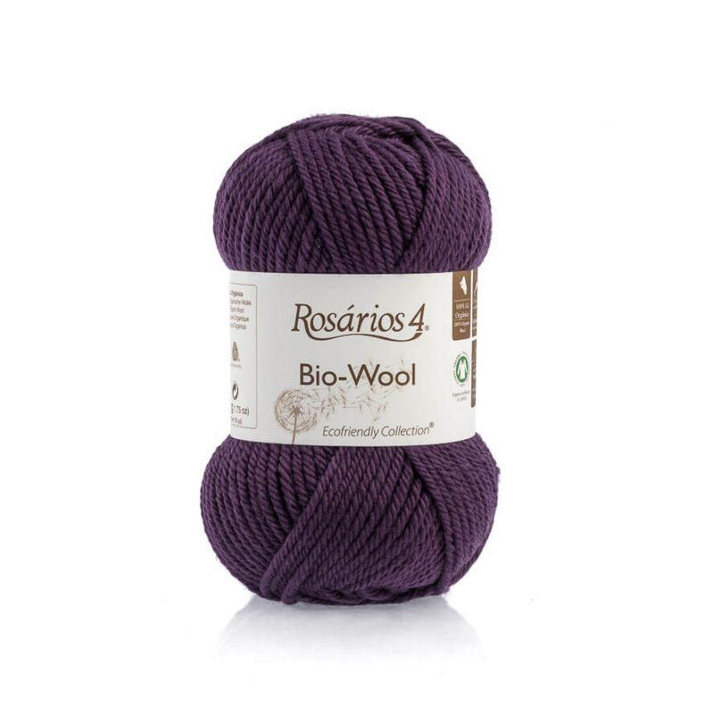100% organic wool Bio-Wool 36 vínová ROSARIOS4