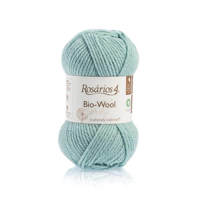100% organic wool Bio-Wool 38 mint ROSÁRIOS 4