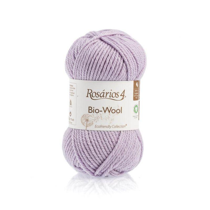100% organic wool Bio-Wool 40 světlá lila ROSARIOS4