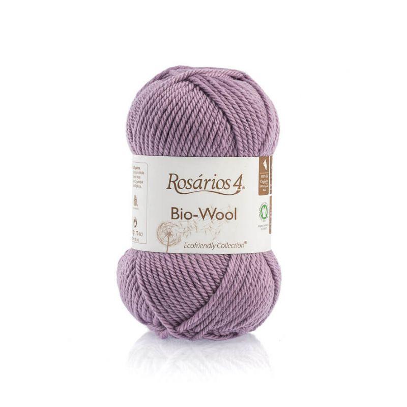 100% organic wool Bio-Wool 39 lila ROSARIOS4