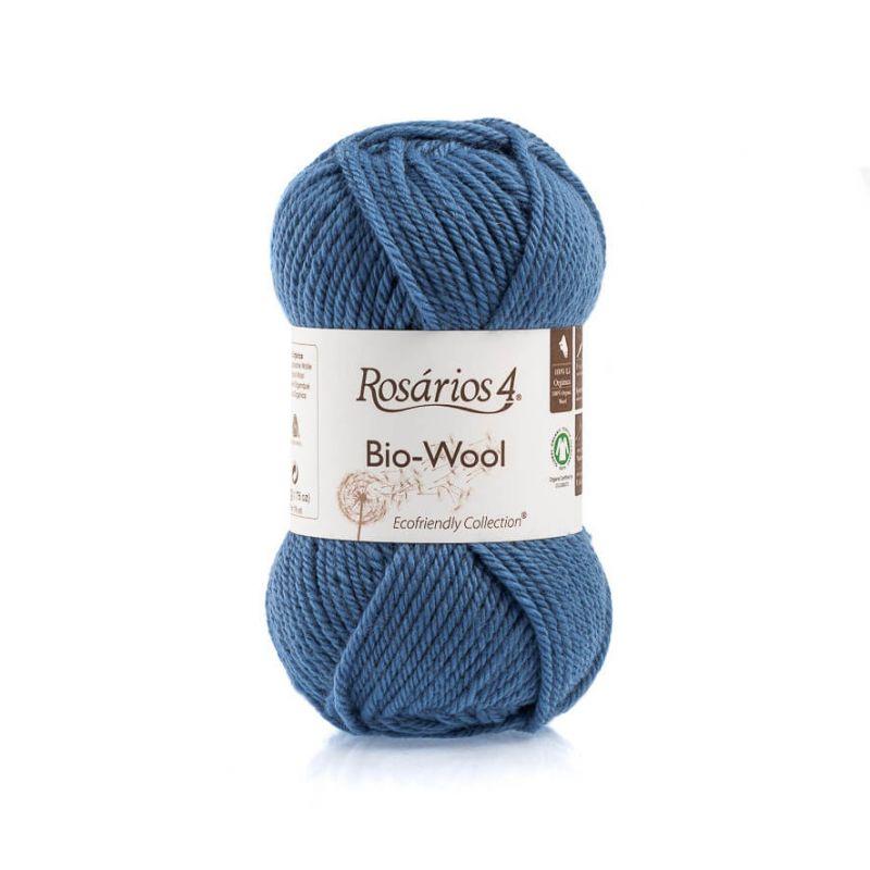 100% organic wool Bio-Wool 41 modrá ROSARIOS4