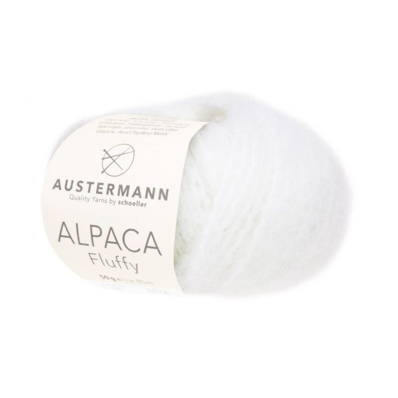 Alpaca Fluffy 01 WOLLWEISS Austermann