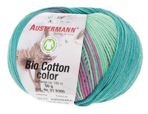 BIO COTTON COLOR 111 lagune Austermann