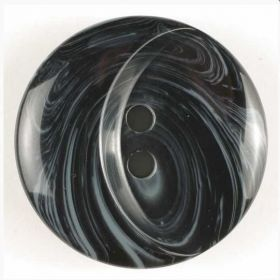 Polyesterový knoflík černý 18 mm
