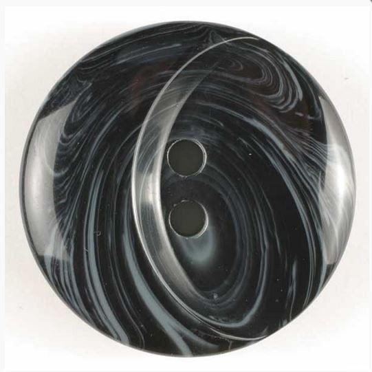 Dámský polyesterový knoflík černý 18 mm DILL