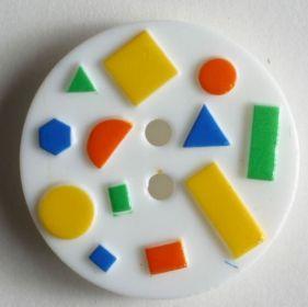 Dětský knoflík bílý 15 mm