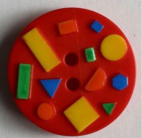 Dětský knoflík červený 15 mm