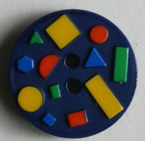 Dětský knoflík modrý 15 mm