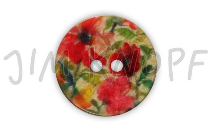 Knoflík flower 18 mm červená JIM KNOPF