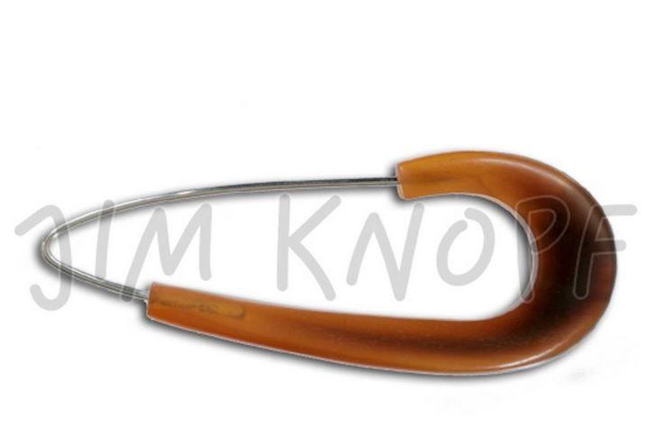 Uzavírací špendlík oděvní / rohovina Golden JIM KNOPF