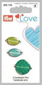Štítek Handmade PRYM LOVE zelená 3 ks