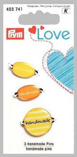 Štítek Handmade PRYM LOVE 3 ks